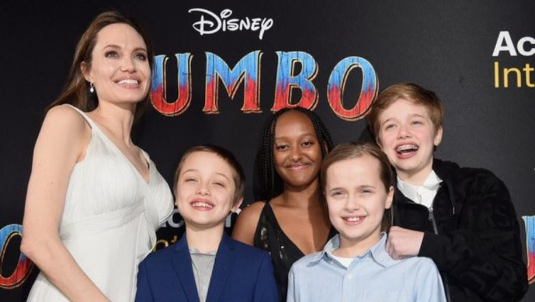 Angelina Jolie Took Her Kids To The Premiere of Disney's Dumbo And Got Everyone Aboard The Gush-Train! View Pics