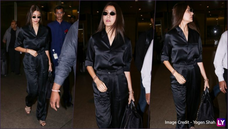 Anushka Sharma's Latest Airport Look, an All-Black Avatar Is Sexy, Classy & Comfortable (View Pics)