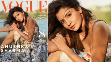 Anushka Sharma Is Sugar & Spice As Vogue India Cover Girl, Stuns in This Strappy Dior Dress With a Plunging Neckline (View Pic)
