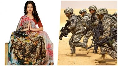 Surat Saree Makers Make Army-Themed Sarees After Pulwama and Balakot Strikes But Use Images of US Army! Check Funny Tweets