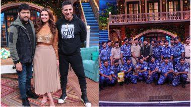 Kesari Stars Akshay Kumar and Parineeti Chopra Attend The Kapil Sharma Show With CRPF Jawans - View Pics!