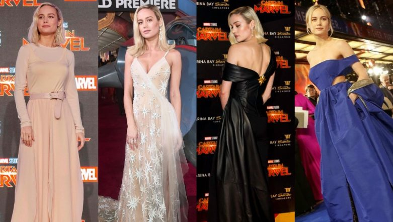 9 Times Brie Larson Ditched Her Rad Red-Blue Suit For Chic Dresses For Captain Marvel's Promotional Spree - View Pics