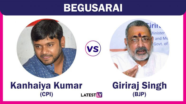 Begusarai Lok Sabha Constituency Results 2019 in Bihar: BJP Candidate Giriraj Singh Defeats CPI's Kanhaiya Kumar by Over 4 Lakh Votes