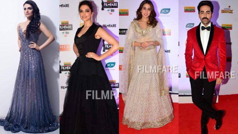 Deepika Padukone, Sara Ali Khan, Mouni Roy, Ayushmann Khurrana - Check Out All The Best Looks From Filmfare 2019's Red Carpet!