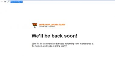 BJP Official Website www.bjp.org Down For Third Day After Being 'Hacked'