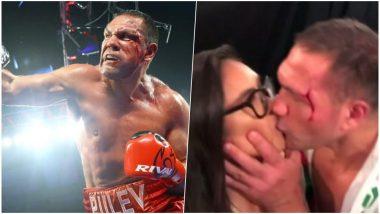 Boxer Kubrat Pulev Suspended After Video of Him Forcefully Kissing Reporter Jennifer Ravalo Goes Viral
