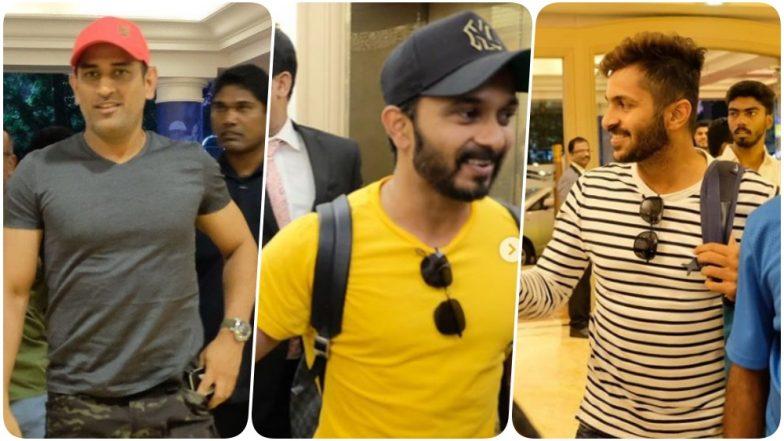 MS Dhoni, Kedar Jadhav & Shardul Thakur Join Chennai Super Kings Ahead of IPL 2019 (See Pics and Video)