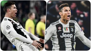 Cristiano Ronaldo Scores a Hat-Trick Against Atletico Madrid; Celebrates Juventus' Mimicking Diego Simeone's 'Cojones' Gesture (Watch Video)