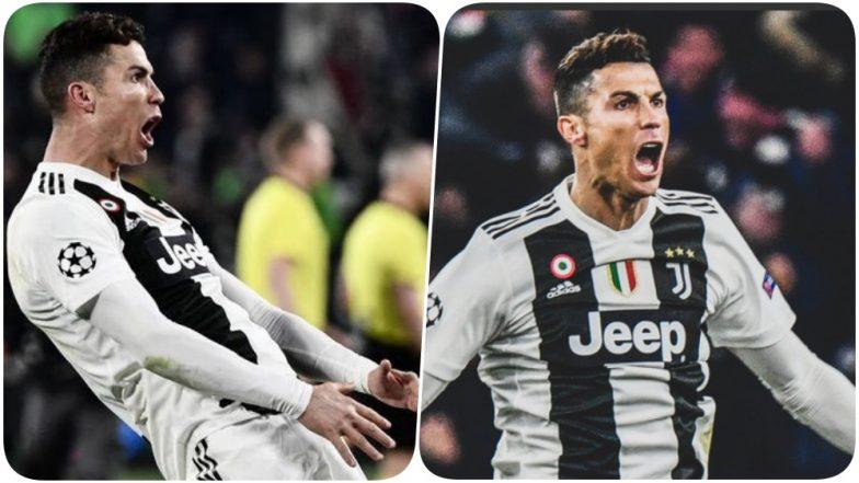 Cristiano Ronaldo Scores a Hat-Trick Against Atletico Madrid; Celebrates Juventus' Mimicking Diego Simeone's 'Cojones' Gesture (Watch Video)