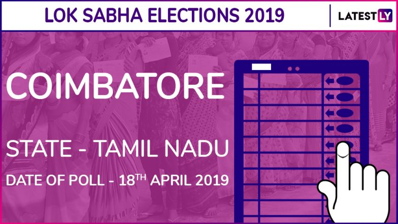 Coimbatore Lok Sabha Constituency in Tamil Nadu: Candidates, Current MP, Polling Date And Election Results 2019