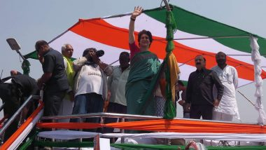 Priyanka Gandhi Vadra Hits Out at BJP, Says Saffron Party Busy Promoting Chowkidar' T-shirts as Merchandise Ahead of Lok Sabha Elections 2019