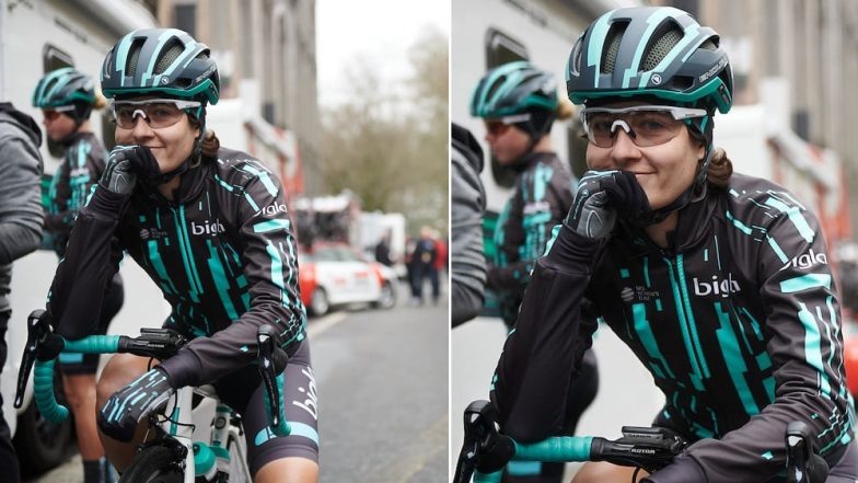 Female Cyclist Forced to Stop During Omloop Het Nieusblad Race After She Surpassed Male Cyclists