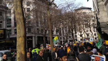 Pro-Khalistan Group Backed by ISI Attacks British-Indians Outside High Commission in London, Watch Video