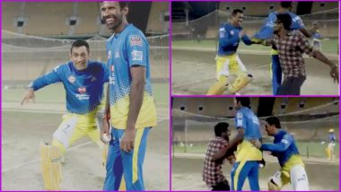 MS Dhoni Plays Hide and Seek With a Fan Once Again During CSK's Practice Match Ahead of IPL 2019, Watch Video