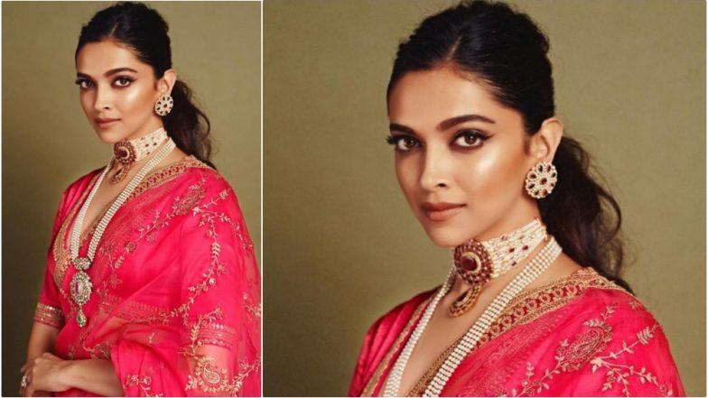 Deepika Padukone Wears Hot Pink Sabyasachi Saree to Attend Akash Ambani-Shloka Mehta's Wedding Ceremony (View Pics)