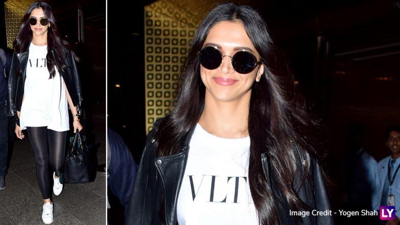Deepika Padukone Looks Chic and Cheerful as She Returns from Greece (View Pics)