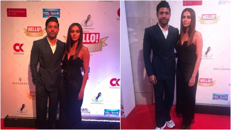 Hello Hall of Fame Awards 2019 Red Carpet: Farhan Akhtar and Shibani Dandekar Make a Stylish Appearance and We Can't Take Our Eyes Off Them - View Pics!