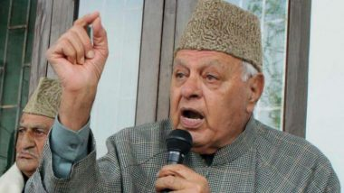Farooq Abdullah Detained Under Public Safety Law; Former Jammu and Kashmir CM Had Been in House Arrest Since Article 370 Abrogation