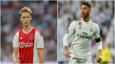 UEFA Champions League 2018-19: Real Madrid's Captain Sergio Ramos will be Sorry if We Win, Says Ajax's Frenkie de Jong