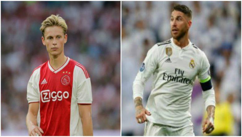 UEFA Champions League 2018-19: Real Madrid's Captain Sergio Ramos will be Sorry if We Win, Says Ajax's Frenkie de Jong