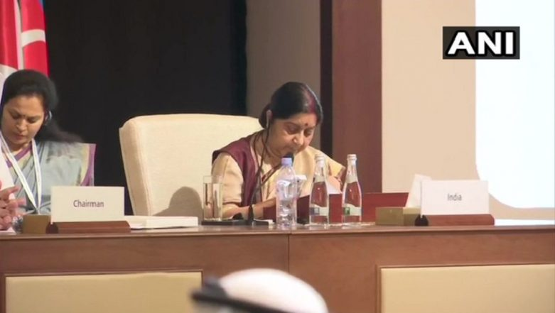 EAM Sushma Swaraj Likely to Raise Terrorism Issue at OIC Meet in UAE