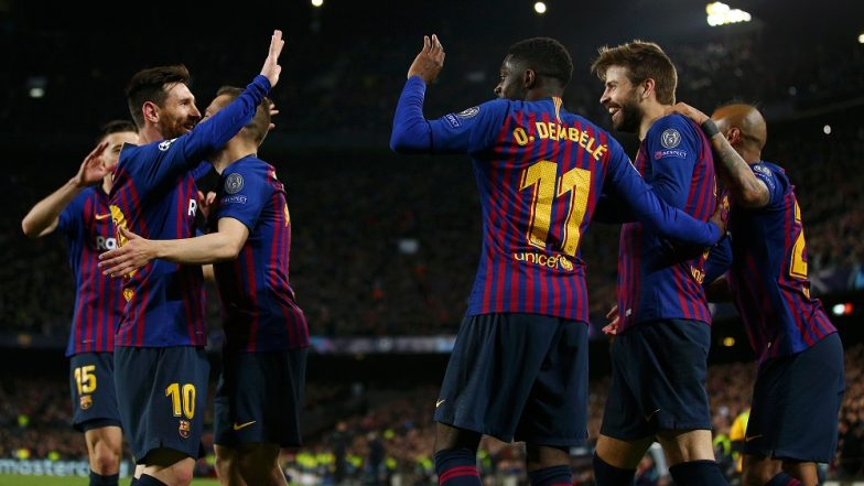 Messi stars as Barca reach Champions League quarters