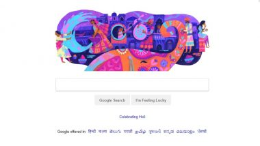 Holi 2019: Google Wishes 'Happy Holi' With 'Splashing of Colours' Doodle