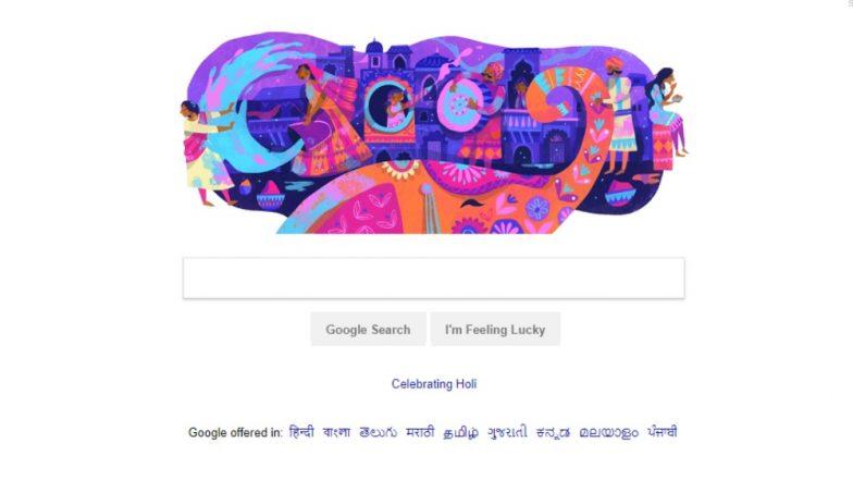Holi 2019: Google Wishes 'Happy Holi' With 'Splashing of Colours' Doodle