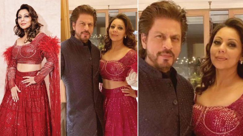 Shah Rukh Khan and Gauri Make For a Great-Looking Pair in This Unseen Pic From Akash Ambani and Shloka Mehta's Pre-Wedding Bash