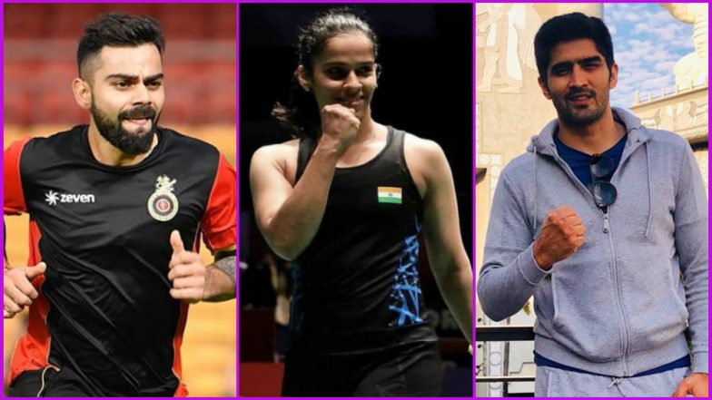 Holi 2019: Virat Kohli, Rohit Sharma, Saina Nehwal, Vijender Singh and Other Sports Personalities Make Festival of Colours Special for Fans