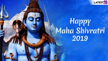 Mahashivratri 2019 Wishes & Shankar Bhagwan WhatsApp Stickers: Best Instagram Photos, SMS, GIF Image Messages to Send Happy Maha Shivaratri Greetings