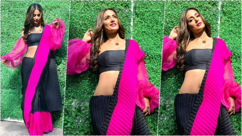Hina Khan Flaunts Her Hot Navel in New Instagram Photos As Fans Can't Get Enough of Her 'Komo Swag'!