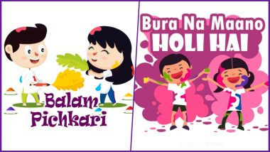 Holi 2019 WhatsApp Stickers and Images: Dhulandi Greetings and Facebook Photos to Wish Happy Holi
