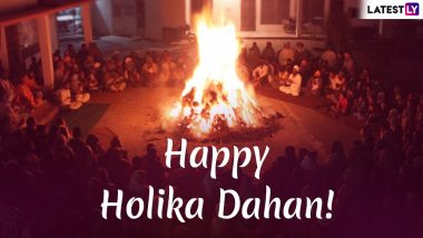Holika Dahan 2020 Wishes, Greetings and HD Images: Wish Your Loved Ones With WhatsApp Stickers, GIFs and Post Before Holi