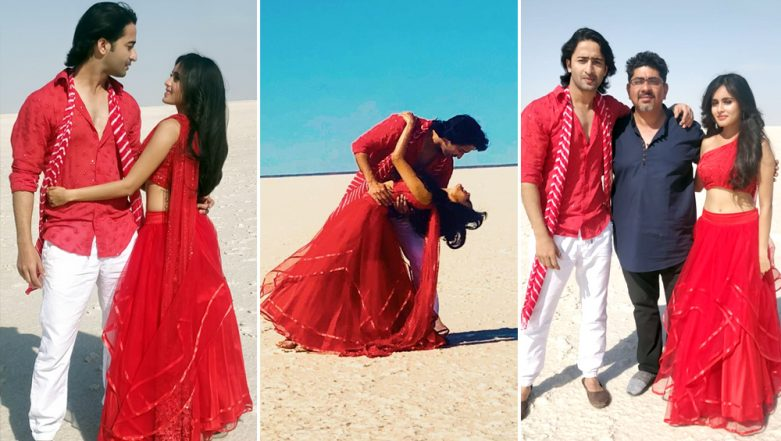 Shaheer Sheikh and Rhea Sharma Look Perfect In Red Against The White Backdrop Of The Rann of Kutch as They Shoot For Yeh Rishtey Hai Pyaar Ke! View Pics