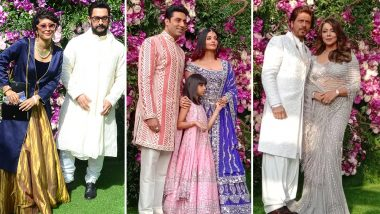 Akash Ambani and Shloka Mehta Wedding: SRK-Gauri, Aamir-Kiran, Abhishek-Aishwarya – Which Celebrity Couple Was the Best Dressed?