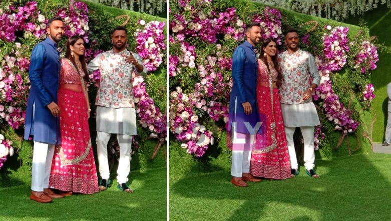Akash Ambani-Shloka Mehta Wedding Pics: Mumbai Indians' Hardik & Krunal Pandya Attend High-Profile Marriage Ceremony