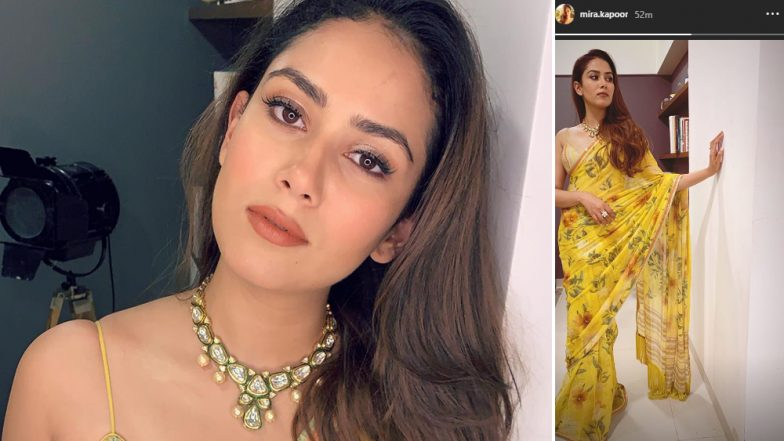 Mira Rajput Looks Like a Beautiful Ray of Sunshine in This Yellow Saree - See Pic