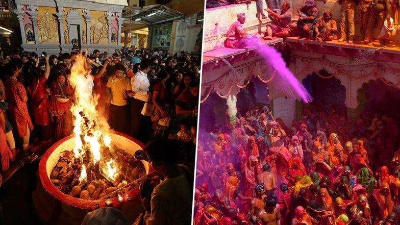 Holi 2019 Holika Dahan Shubh Muhurat & Time: Significance, Mythology, Celebrations Associated With the Festival of Colours