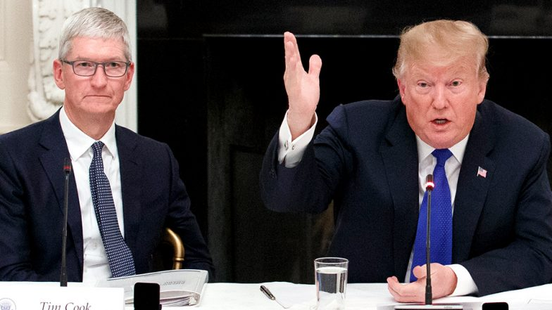 US President Donald Trump Accidentally Addressed Apple's CEO Tim Cook As 'Tim Apple'