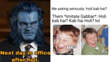 Holi 2019: Funny Memes, Jokes and GIFs to Add More Rang to the Festival of Colours