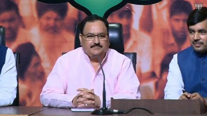 JP Nadda Appointed as BJP Working President After Amit Shah Becomes Home Minister in PM Narendra Modi's Cabinet