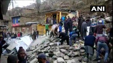 Jammu and Kashmir: 13 Shops Damaged After Landslide Hits Doda