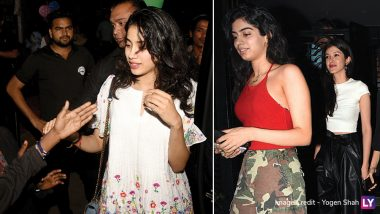 Janhvi Kapoor Interacts With Street Kids While Khushi Kapoor and Shanaya Kapoor Bond Over Dinner Date (View Pics)