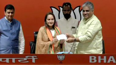 Jaya Prada Joins BJP at Party Headquarters in Delhi, Likely to Contest 2019 Lok Sabha Polls From Rampur