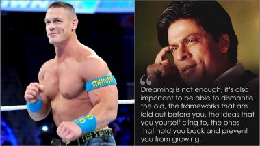 WWE Star John Cena Posts a Shah Rukh Khan Quote on Instagram Again, Is WrestleMania 35 the Reason?