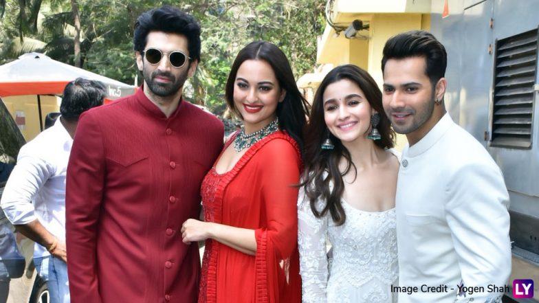Kalank Teaser Launch Pics: Varun Dhawan-Alia Bhatt, Sanjay Dutt-Madhuri Dixit Nene, Aditya Roy Kapur-Sonakshi Sinha's Colour-Coordinated Avatars Steal the Show