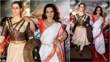 Kangana Ranaut, Stop Posing With Rani Lakshmi Bai's Statue in Such a Disrespectful Manner – She Is Not Your 'Chachi'! (View Pics)