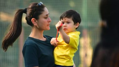 Taimur Just Can't Stop Asking Kareena Kapoor Khan 'Abba Kidhar Hai'  (Watch Video)