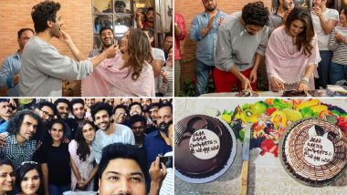 Sara Ali Khan Feeding Cake To Her Crush KartiK Aaryan Is Just Unmissable! View Pics